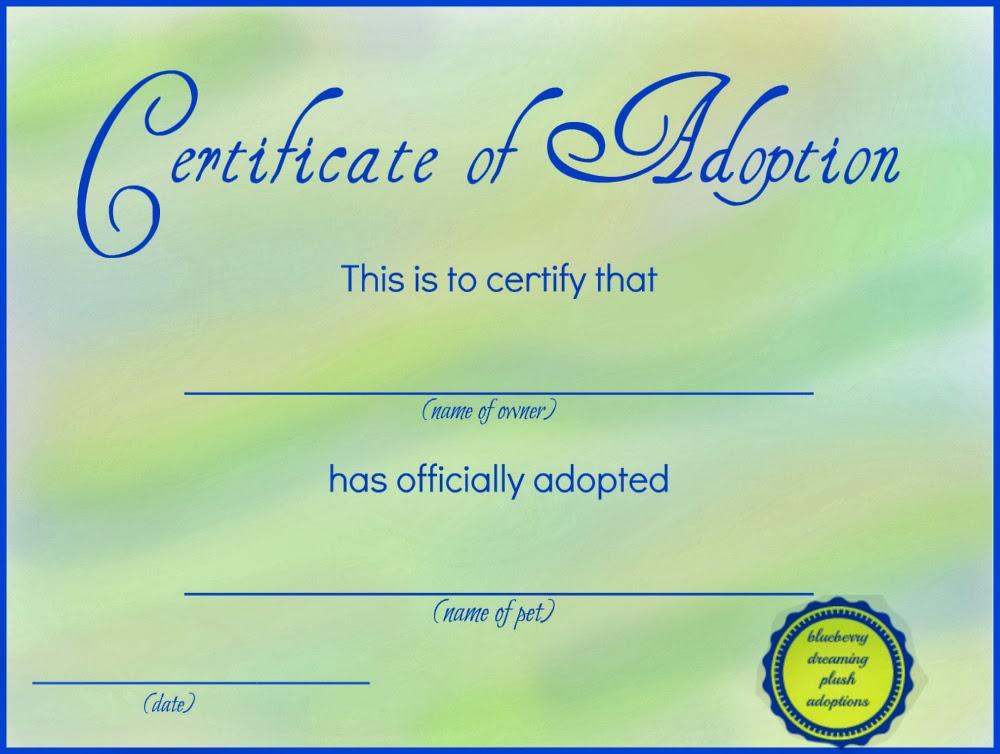 Crafty image with regard to printable fake adoption papers
