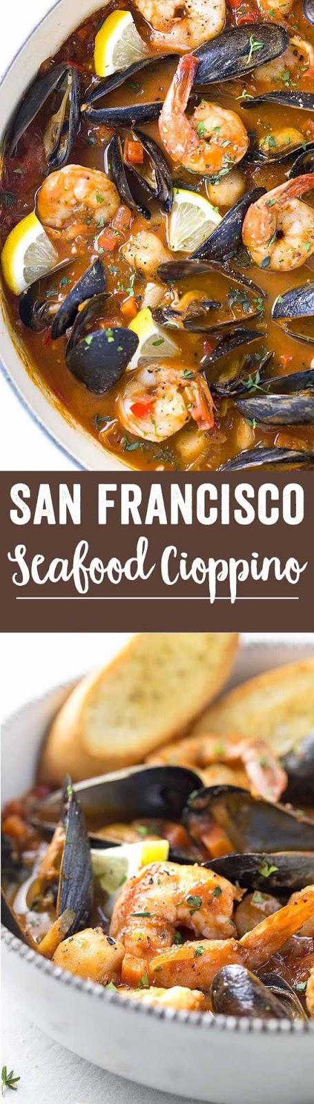 San Francisco Style Seafood Cioppino