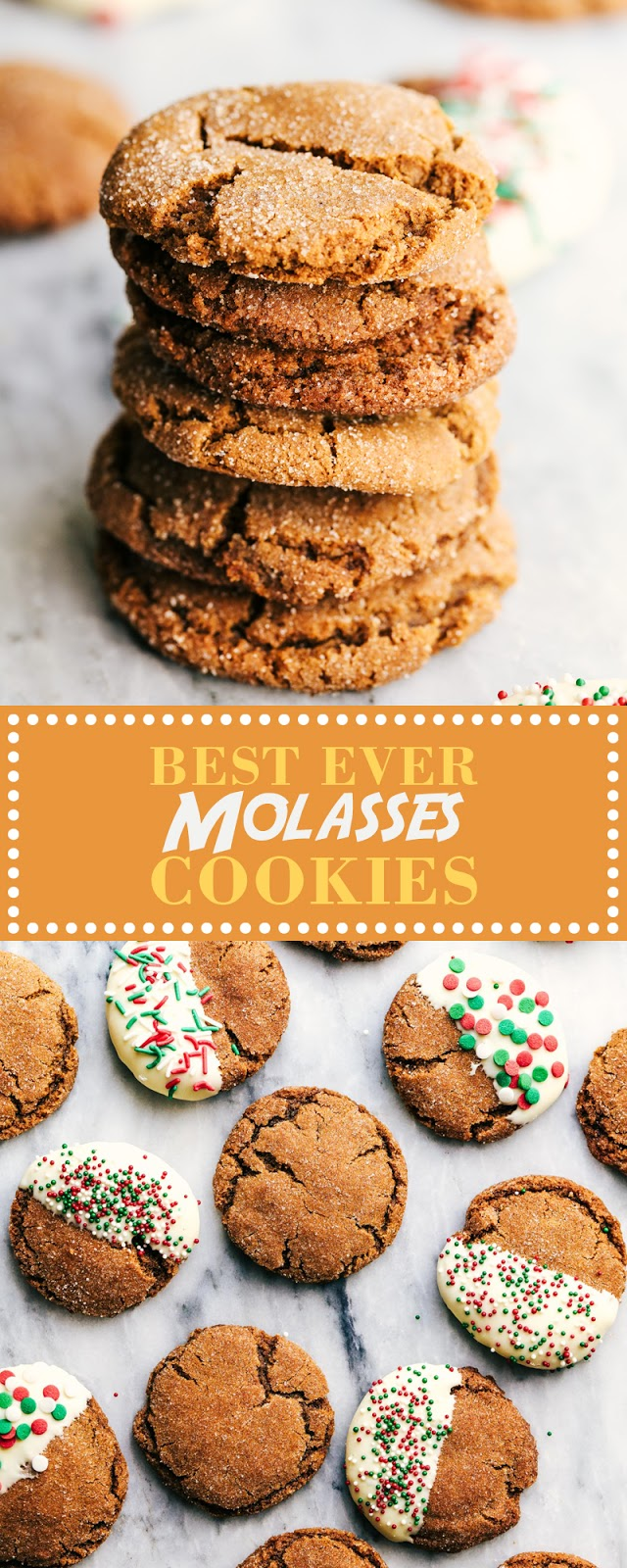 BEST EVER MOLASSES COOKIES