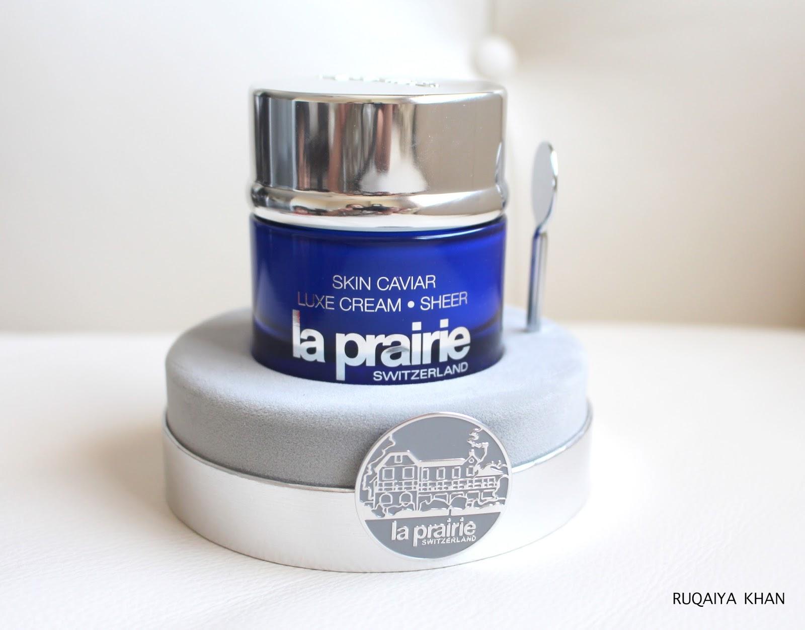 ruqaiya khan la prairie skin caviar luxe cream sheer review. Black Bedroom Furniture Sets. Home Design Ideas