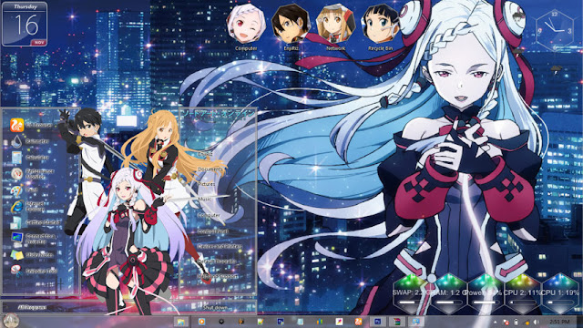 Sword Art Online Movie: Ordinal Scale Theme Win 7 by Enji Riz Lazuardi