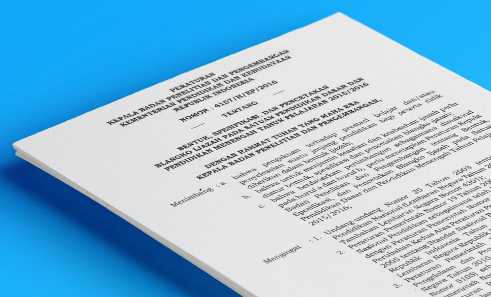 Pedoman Penulisan Ijazah Resmi Tahun Pelajaran 2016 dari Kemdikbud (Balitbang)