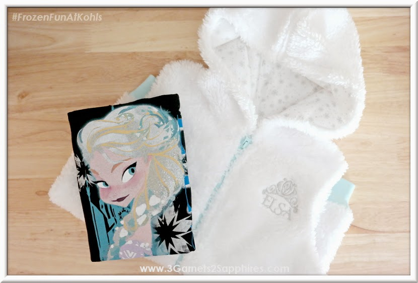 Kohls Disney Jumping Beans Frozen Elsa Plush Vest and Graphic Tee #FrozenFunAtKohls