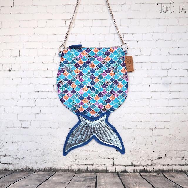 little mermaid, sea, coral reef, mermaid, scales, fin, waves, polyester, waterproof, crossbody bag, festival, purse, Washpapa, washable paper, vegan leather, felt,