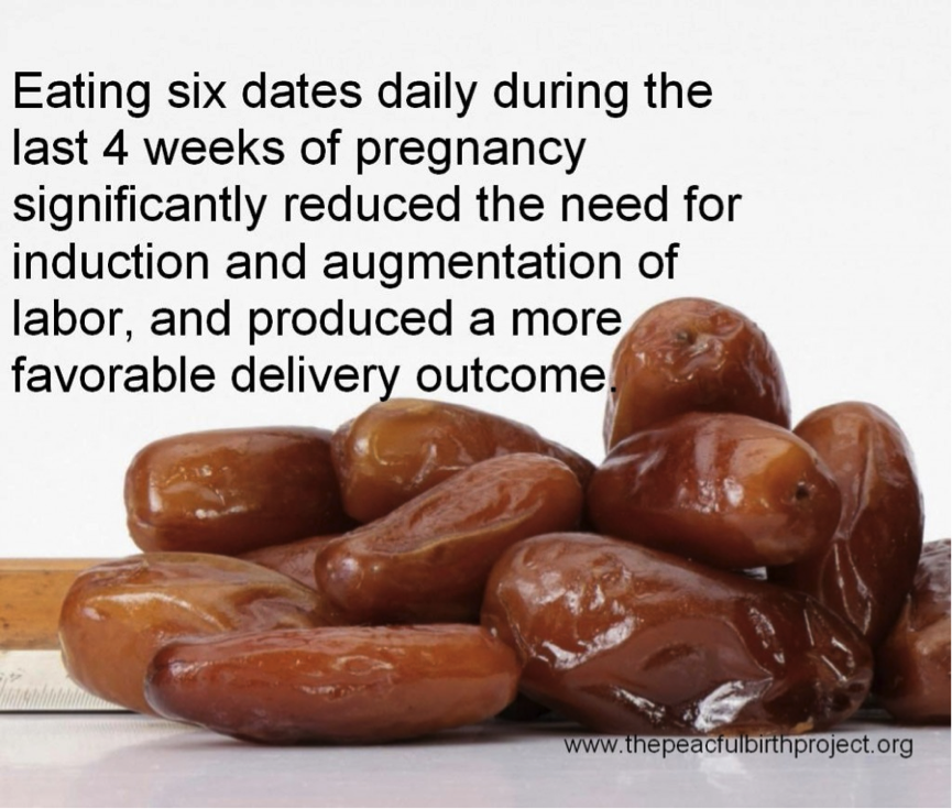 Eating dates during pregnancy in Australia
