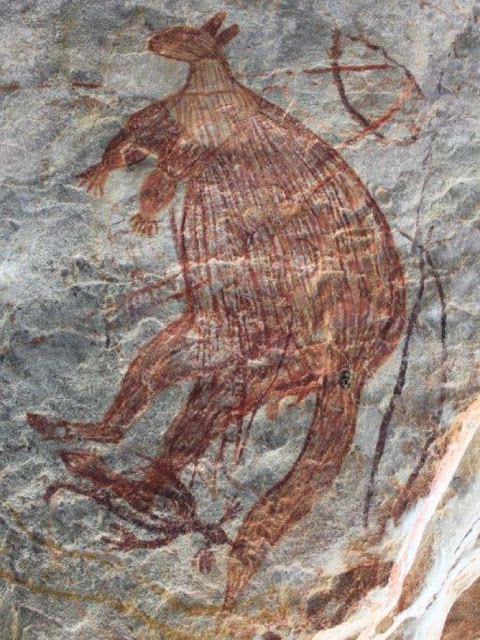 Aboriginal art in Western Australia's Kimberley Region dated to Ice Age