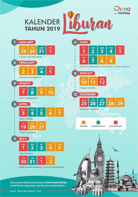 Ini Jadwal Kalender Cuti Libur