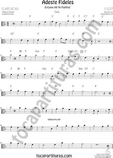 Viola Partitura de Viola Sheet Music for Viola O come All Ye Faithful Music Score