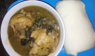AFIA EFERE soup and fufu.