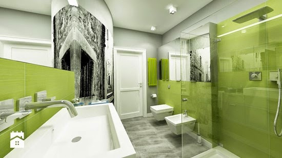 Foto de baño color verde