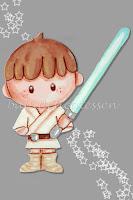 silueta de madera infantil Luke Skywalker Star Wars babydelicatessen