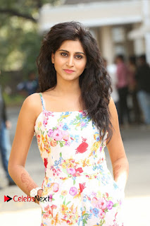 Actress Shamili Stills in Floral Short Dress at Sree Ramaraksha Song Launch 0040
