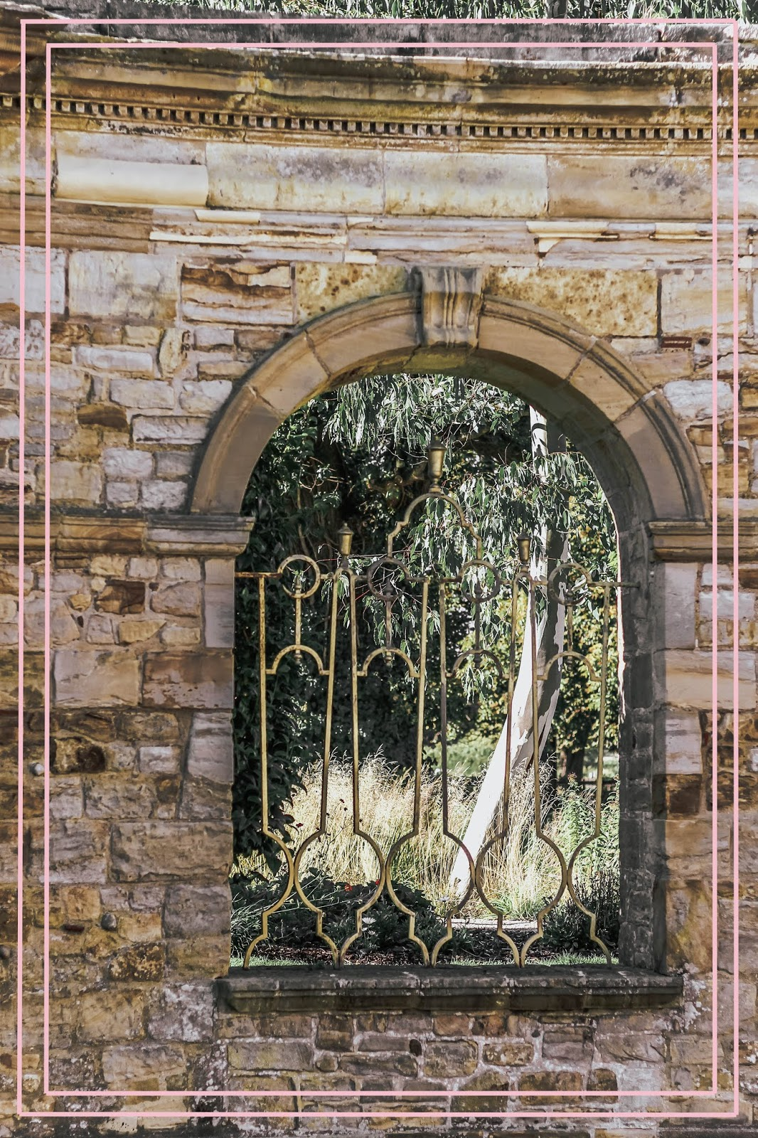 British Secret Garden Gold Gates