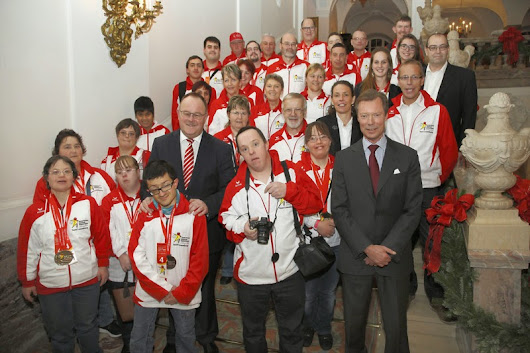 Grand Duke Hosts Special Olympic Delegates