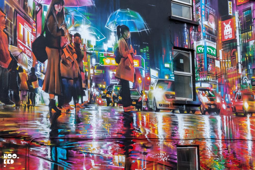 Waterford street art festival, vibrant mural by Dan Kitchener