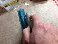 Cutting the felt
