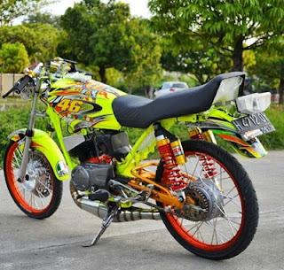Yamaha RX King modif kaki kaki