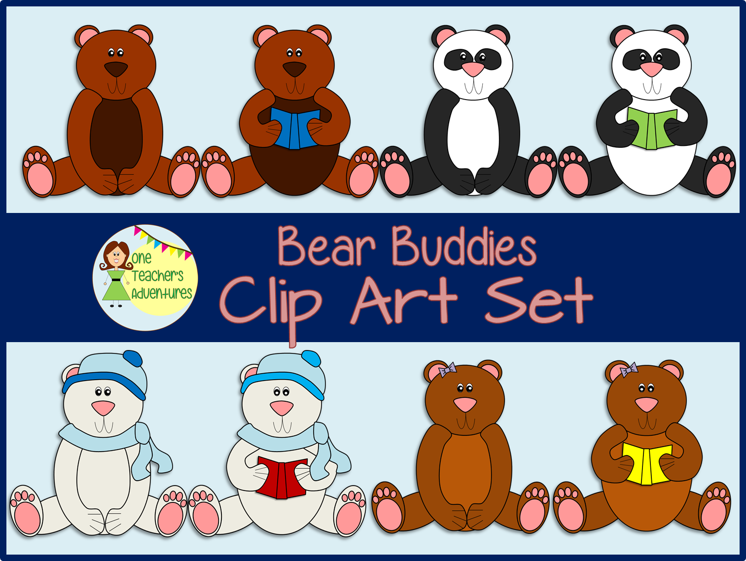 http://www.teacherspayteachers.com/Product/Bear-Buddies-Clip-Art-1404887