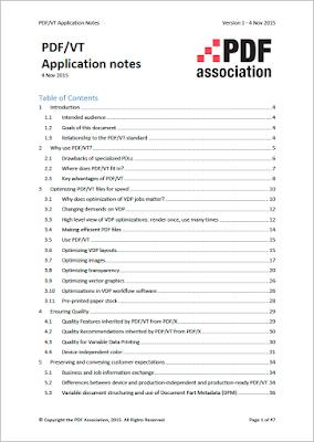 PDF/VT Application notes
