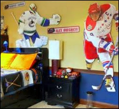 hockey theme bedroom decorating ideas