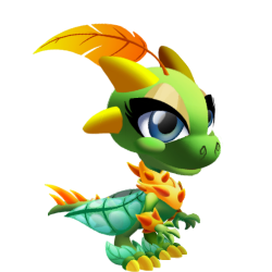 Appearance of Super Nature Dragon when baby