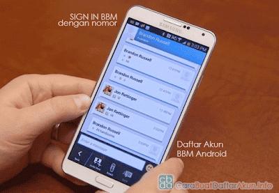 sign in bbm dengan nomor telepon