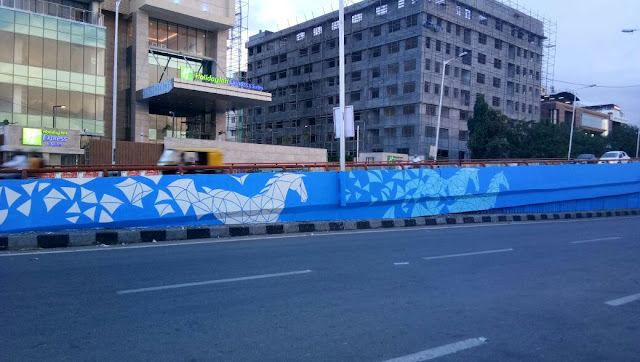 Hundreds of citizens join Brigade, The Ugly Indian to paint Anand Rao Circle flyover