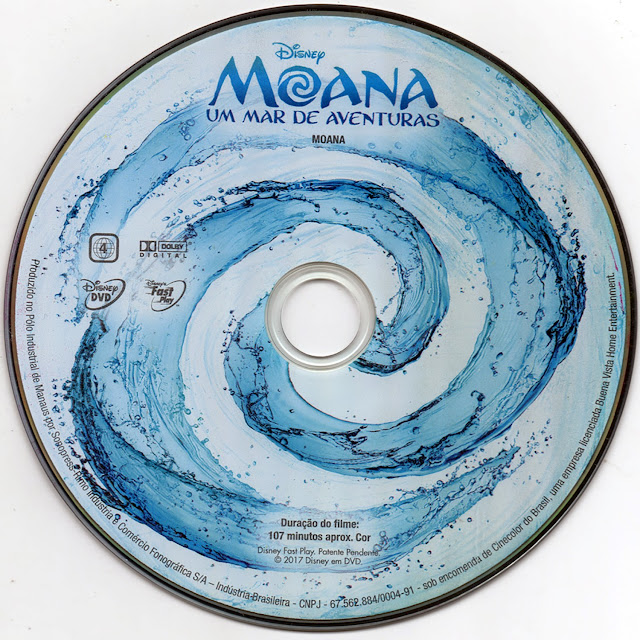 Label DVD Moana (Oficial)