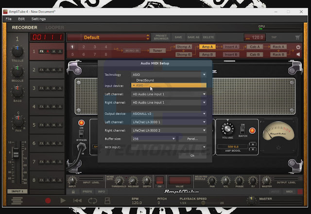 Configuración audio amplitube 4