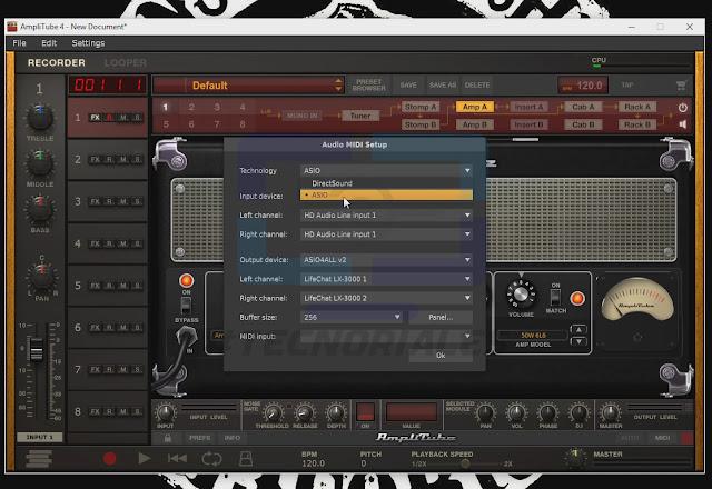 Configuración audio amplitube 4