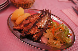 Grilled sardines for lunch