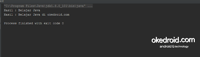 Output Hasil Contoh Fungsi Method concat() pada Program Java
