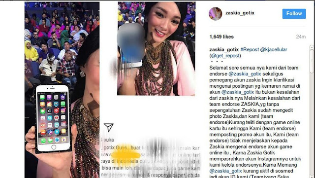 Zaskia Gotik Minta Maaf, Jelaskan Bisa Ceroboh Di-endorse Judi Online