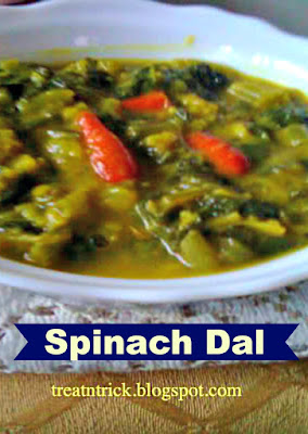 Spinach Dal  Recipe @ treatntrick.blogspot.com