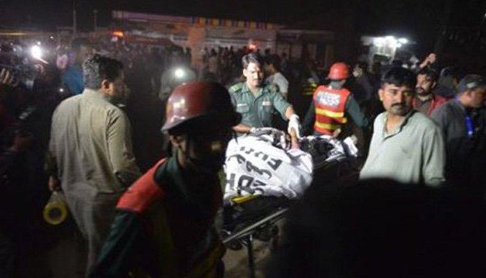 Foto Ledakan Bom Lahore Pakistan