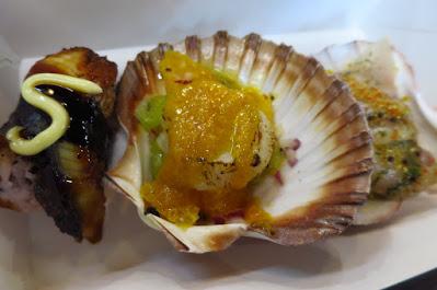 Melbourne, South Melbourne Market, scallops