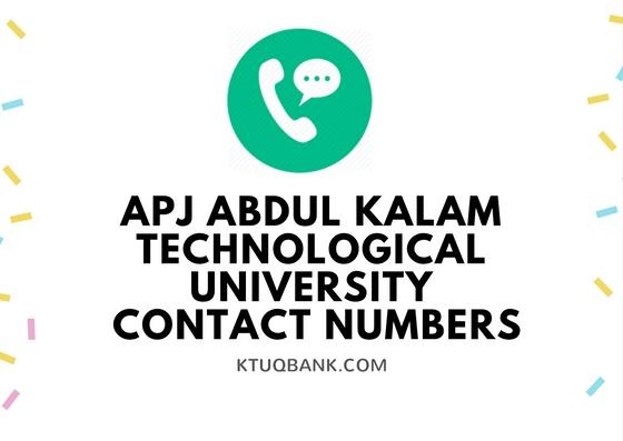 APJ Abdul Kalam Technological University | Contact Numbers