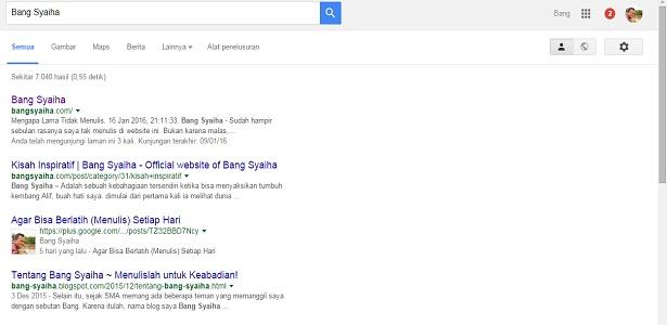 Cobalah Ketik Namamu di Google dan Perhatikan Apa Saja yang Dimunculkan, Bang Syaiha, Kisah Inspiratif, One Day One Post, Menulis Setiap Hari, Blogger Aktif, Penderita Polio, Trainer, Guru Blogger, bang-syaiha.blogspot.co.id