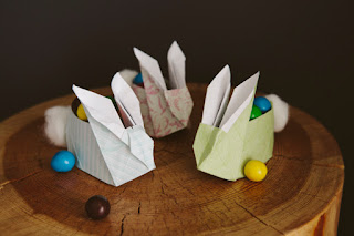 cestino coniglio origami