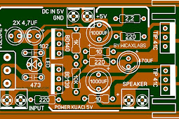 5v amplifier Audio Layout Komplit Karya Wicaxlab