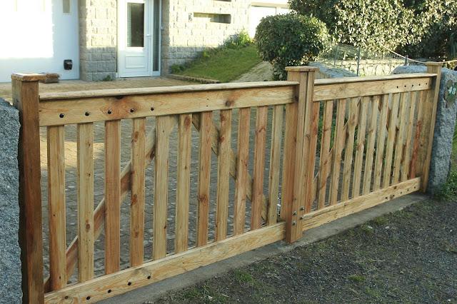 Make Pallet Wood Driveway Gates