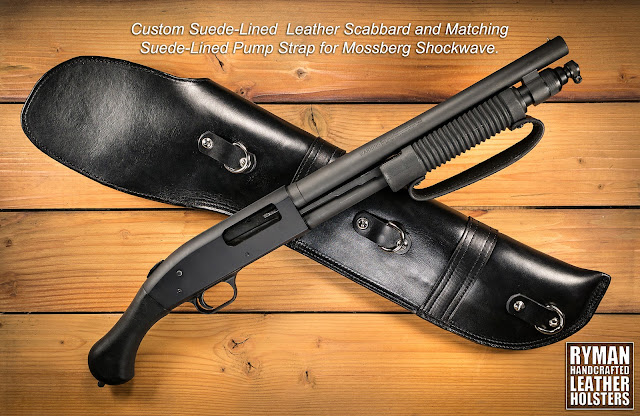 Leather Scabbard for Mossberg Shockwave, leather case, leather holster, carrying case.