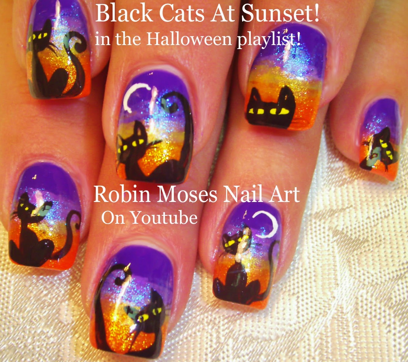 Nail Art By Robin Moses Halloween Nails Halloween Nail Art