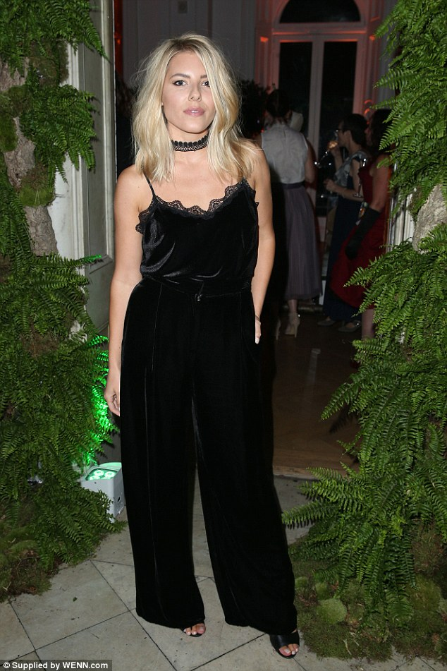 Mollie King stuns in black jumpsuit at LFW Party