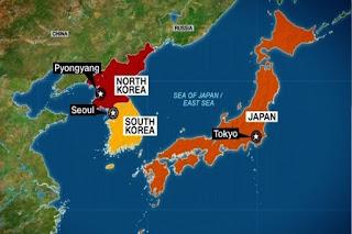 Korea Utara - Korea Selatan - Jepang