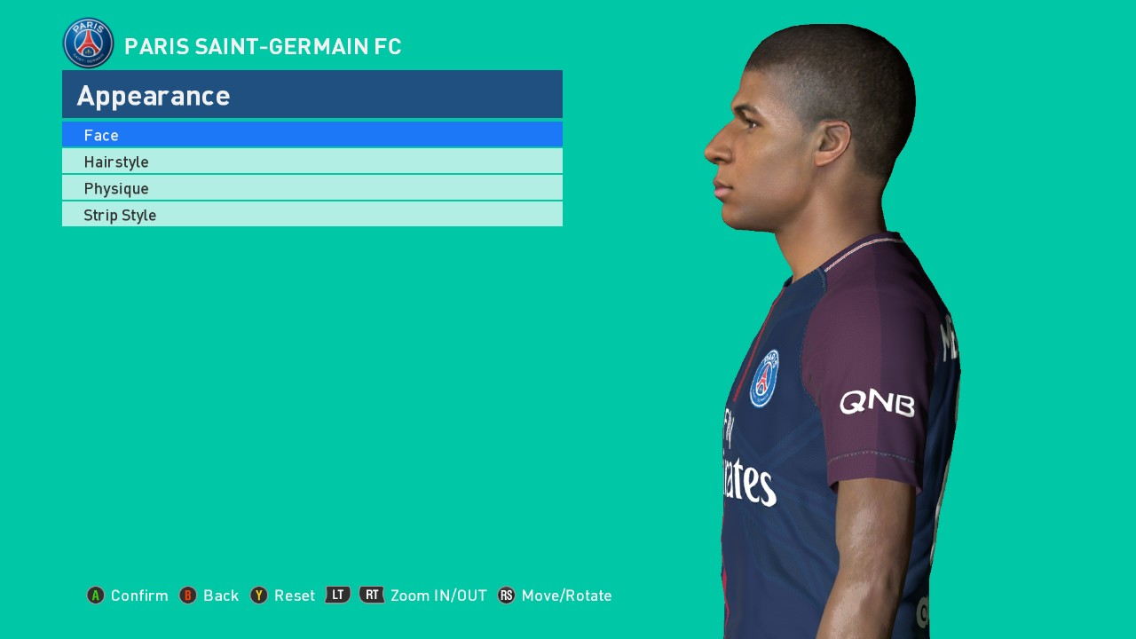 PES 2017 Face Mbappe Update+fix by Ahmed Tattoo & Facemaker