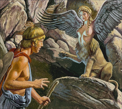 O mito da Homossexualidade na Grécia Antiga Oedipus-encountering-the-sphinx-roger-payne