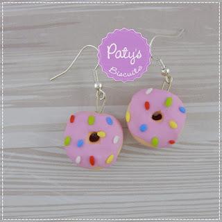 Par de brincos e anel Donuts - Brincos e anéis Geek - Paty's Biscuit