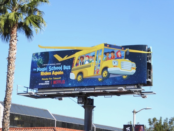 Magic School Bus Rides Again billboard