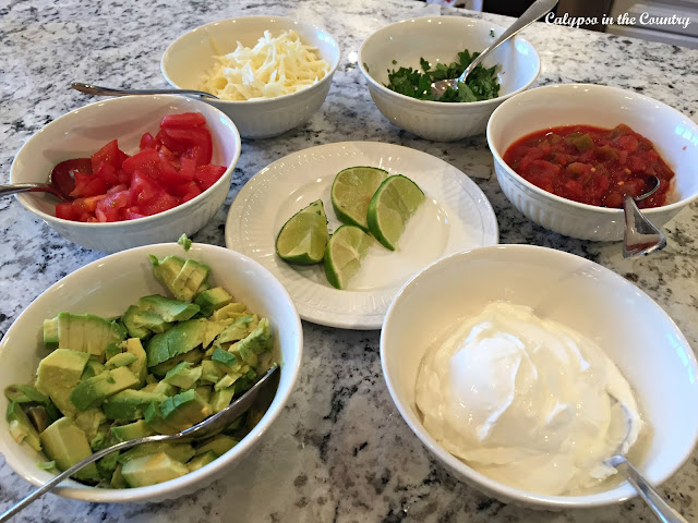 Burrito Toppings for our Favorite Chicken Burritos